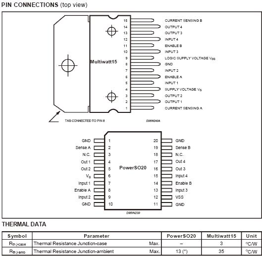 L298n datasheet,datasheets manu page:1==dual full-bridge driver.